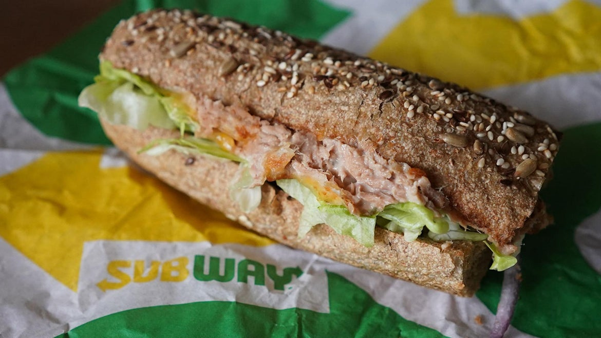 Tuna Subway Sandwich