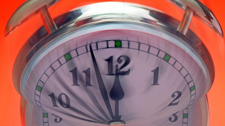"A photo of a clock symbolizing ""Doomsday"""