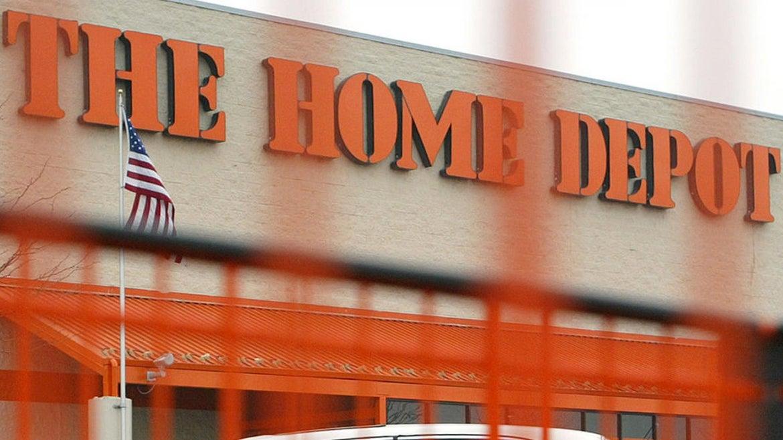 A Home Depot sign