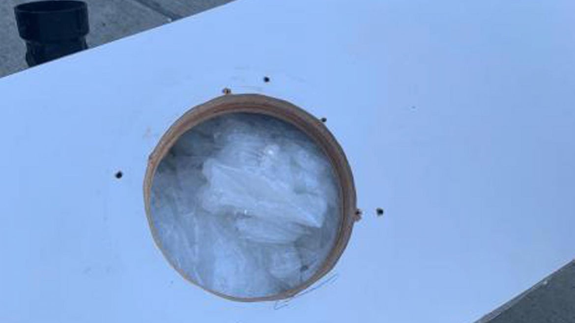 333 pounds of meth was found in a vessel headed towards Huntington Beach, CA.