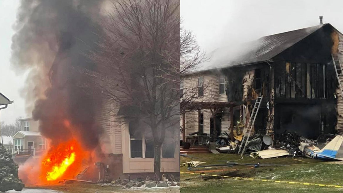 A private plane crashed into a Michigan home on Jan. 2, killing the 3 passengers
