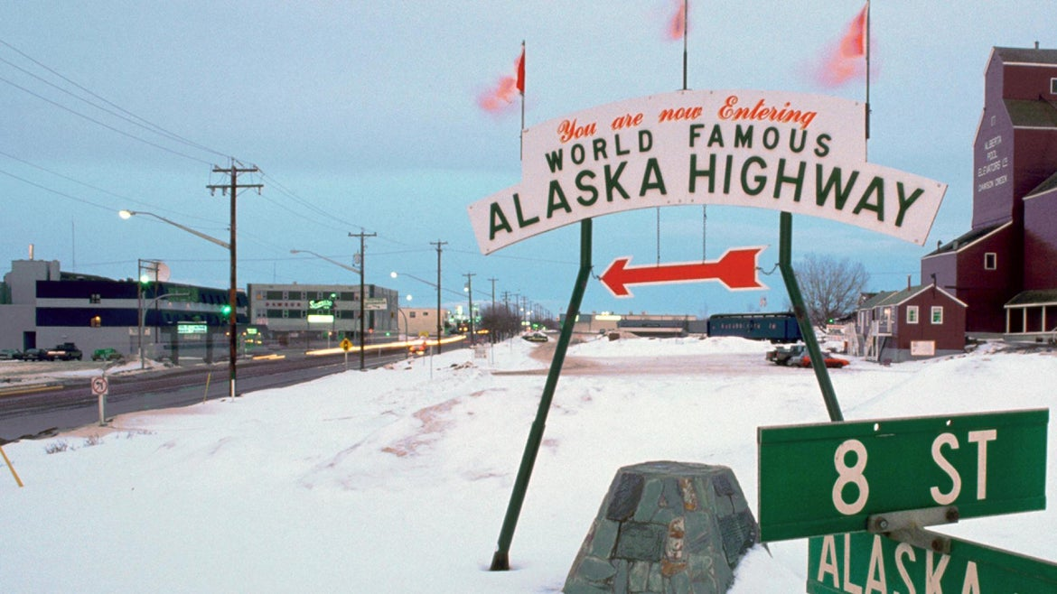 Dawson Creek, B.C, marks the beginning of the Alaska Highway.