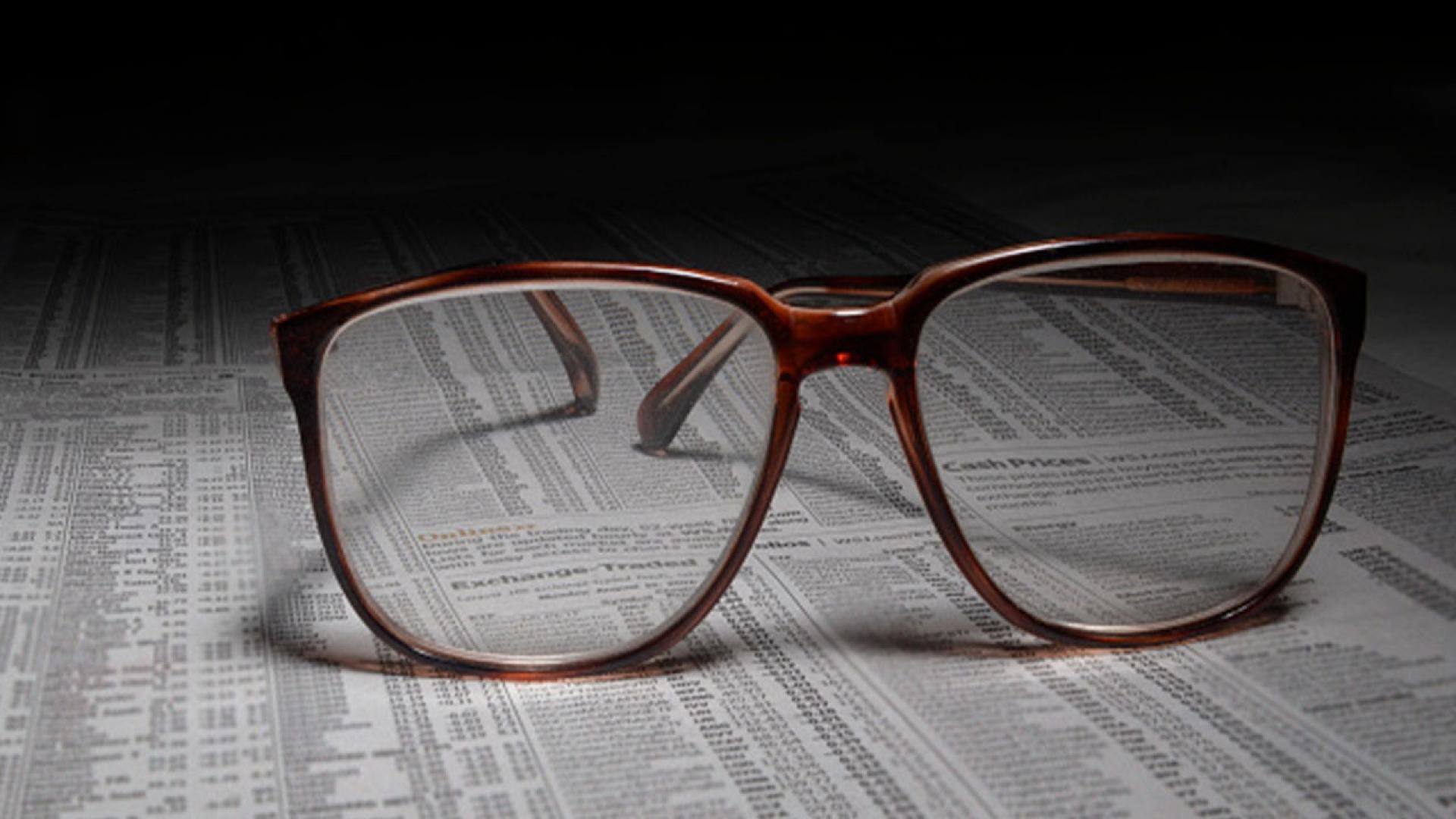 Stock image of eyeglasses