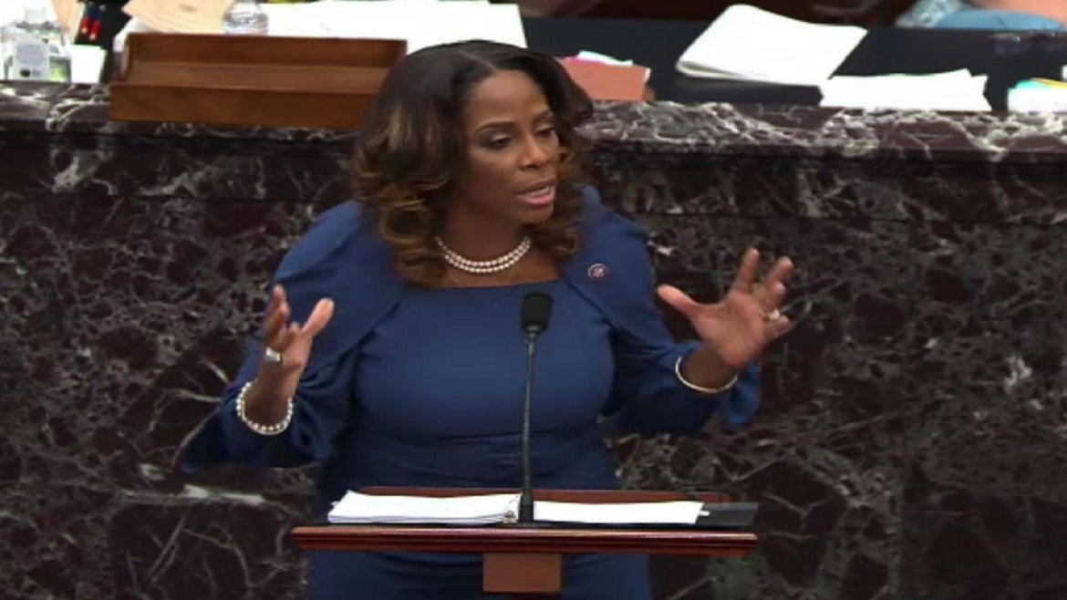 Stacey Plaskett made history Wednesday during 2nd day of Trump impeachment hearings.