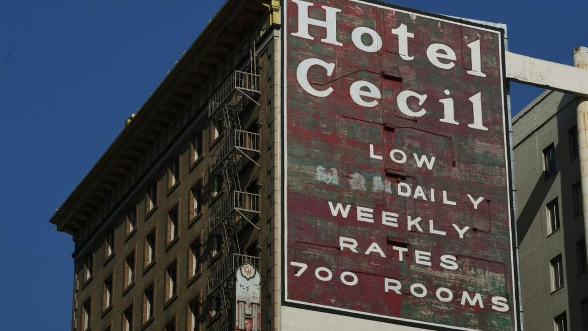The Hotel Cecil in Los Angeles