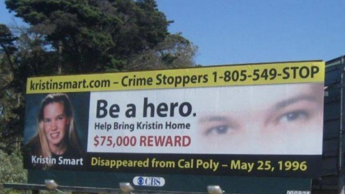 Kristin Smart disappeared from her college campus at California Polytechnic State University  in 1996