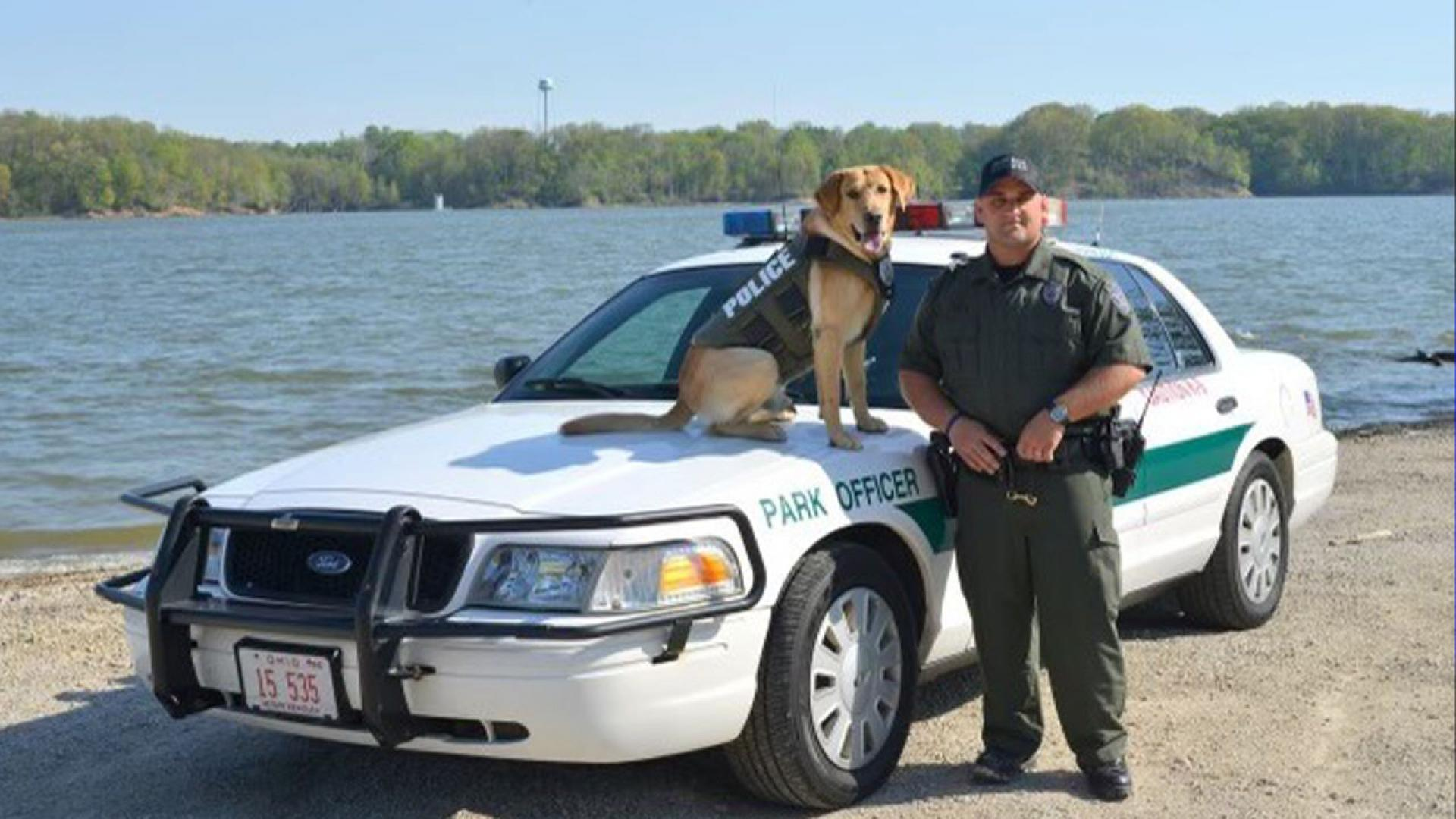 ODNR Officer Jason Lagore and his special K-9 companion