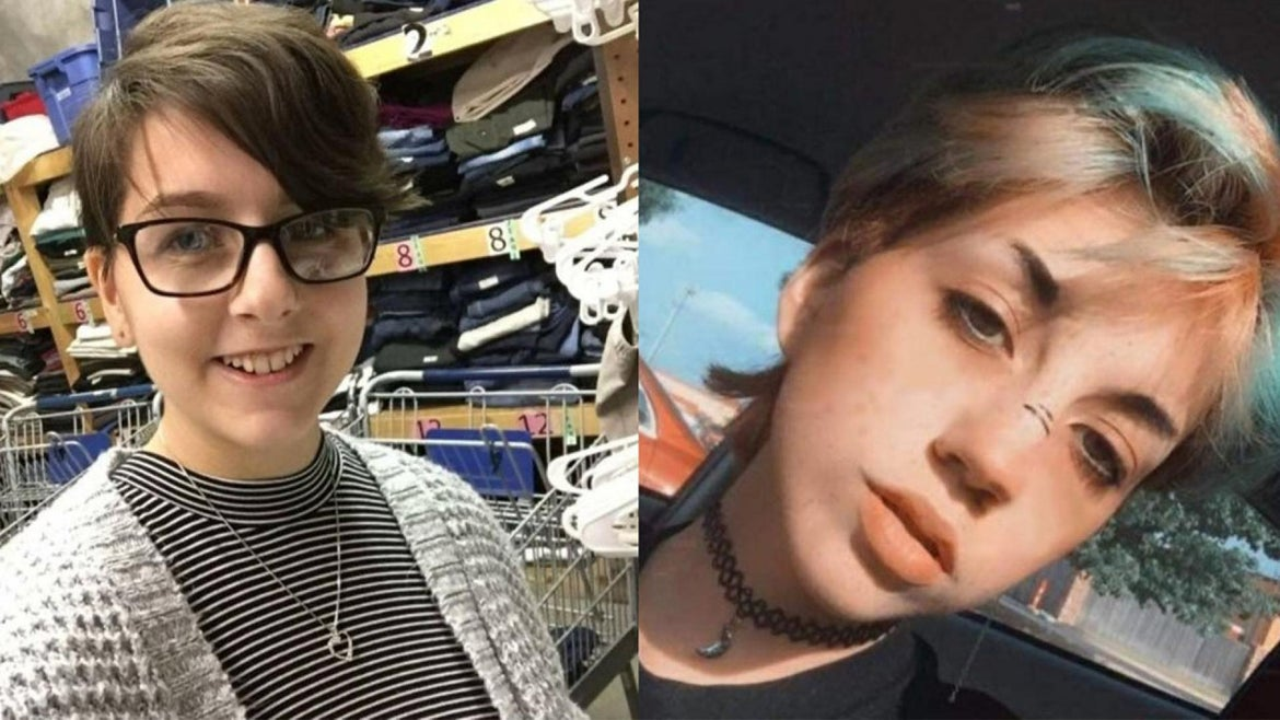 """Clarissa Kaser, left, and Crystal """"Grey"""" Kaser. Both teenagers were fatally shot Tuesday by their father in a murder-suicide, police say."""