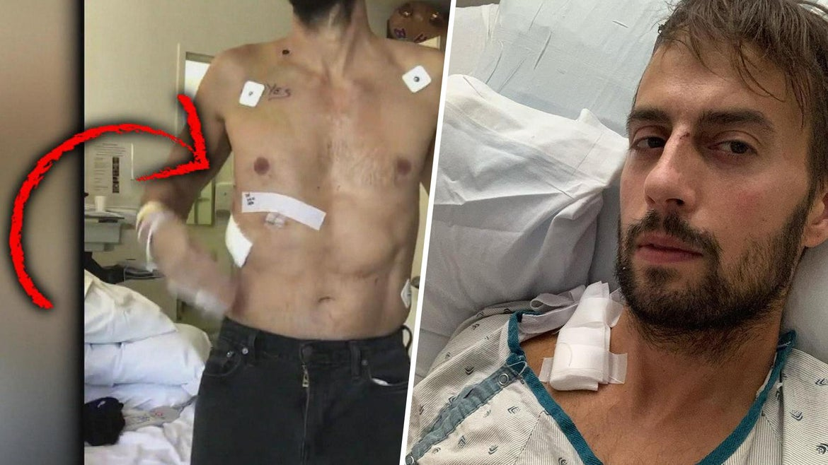 Ryan Fischer recovering in the hospital