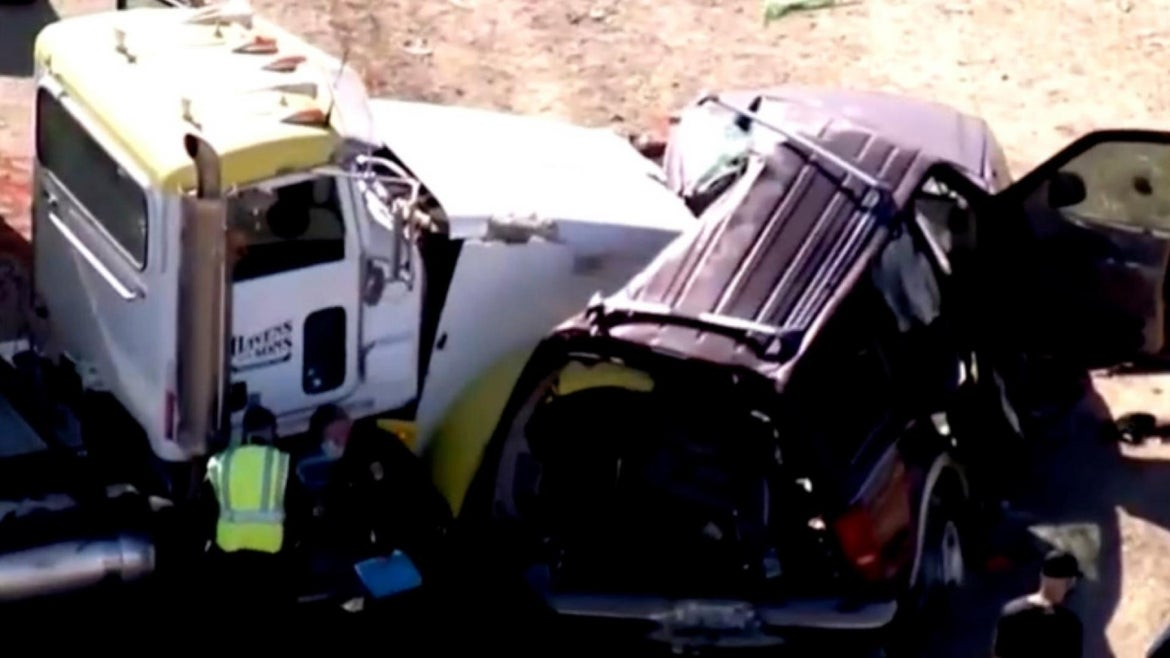 The crash occurred early Tuesday in rural California.