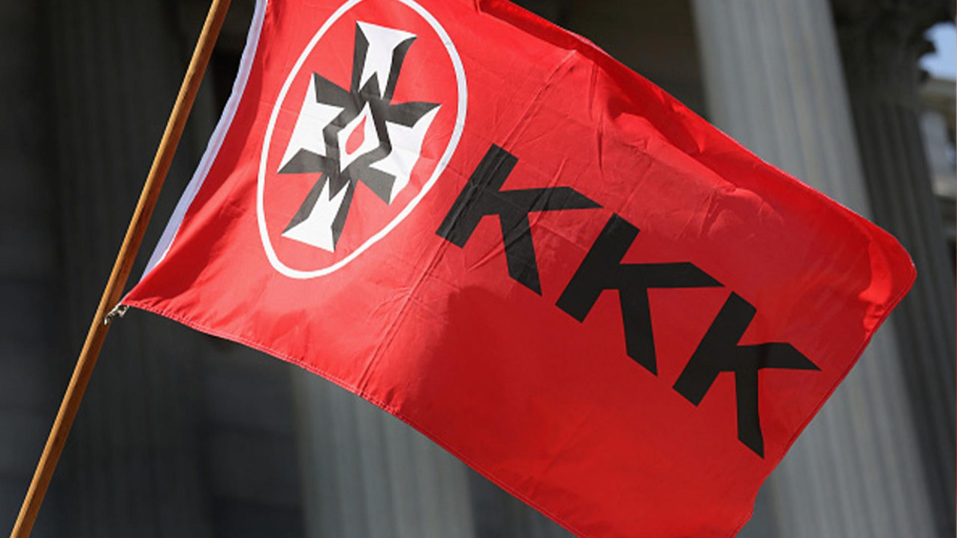 An image of a KKK flag.