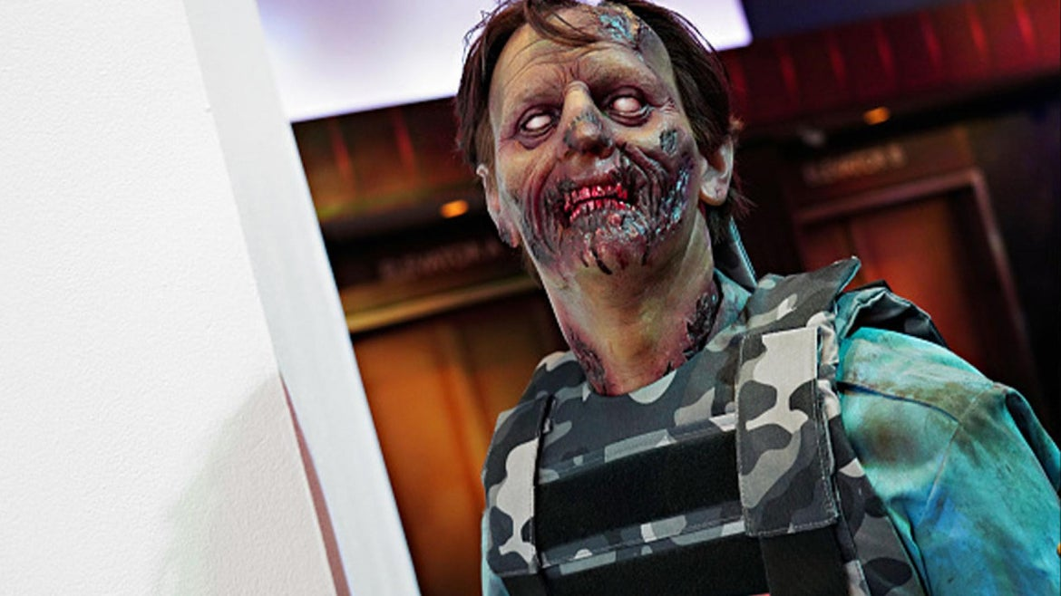 Image of a zombie.