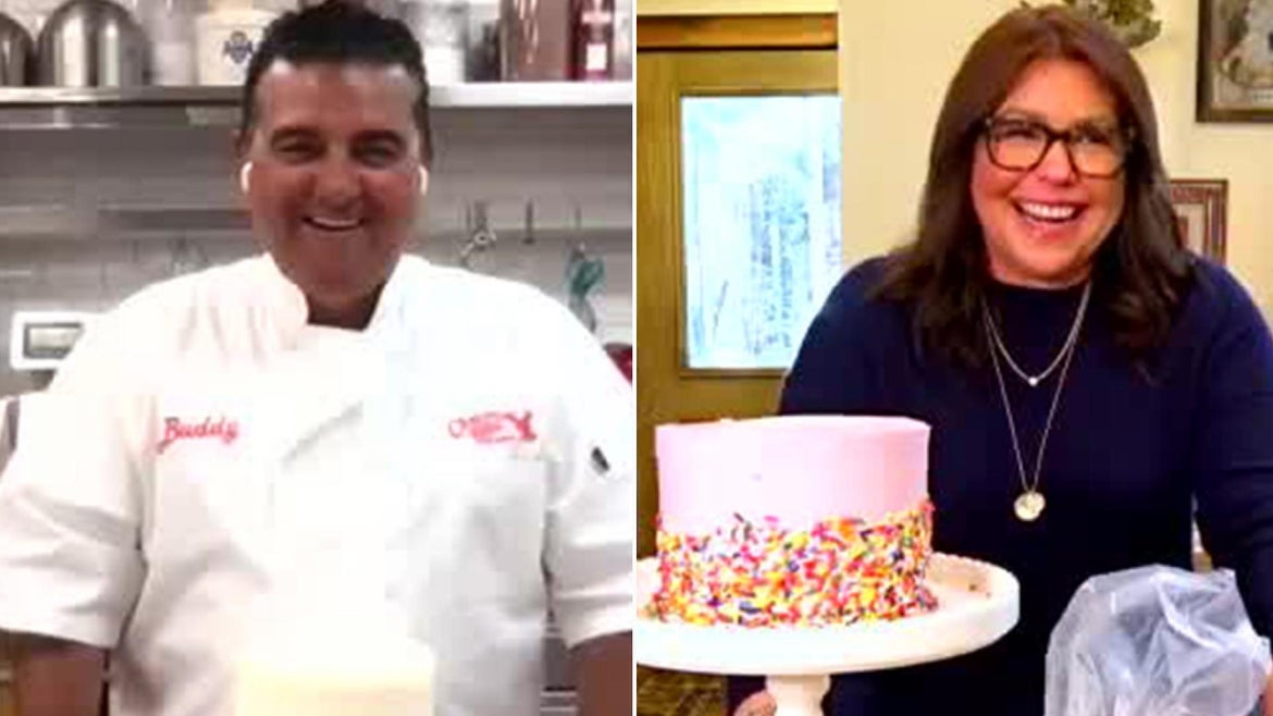 """""""I've got, I'd say, about 75% of my strength back, so, you know, it's coming along, but I'm still in physical therapy, doing really well,"""" Buddy Valastro tells Rachael Ray."""