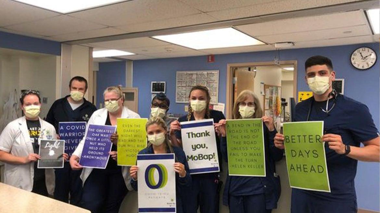 Frontline workers at Missouri Baptist Medical Center