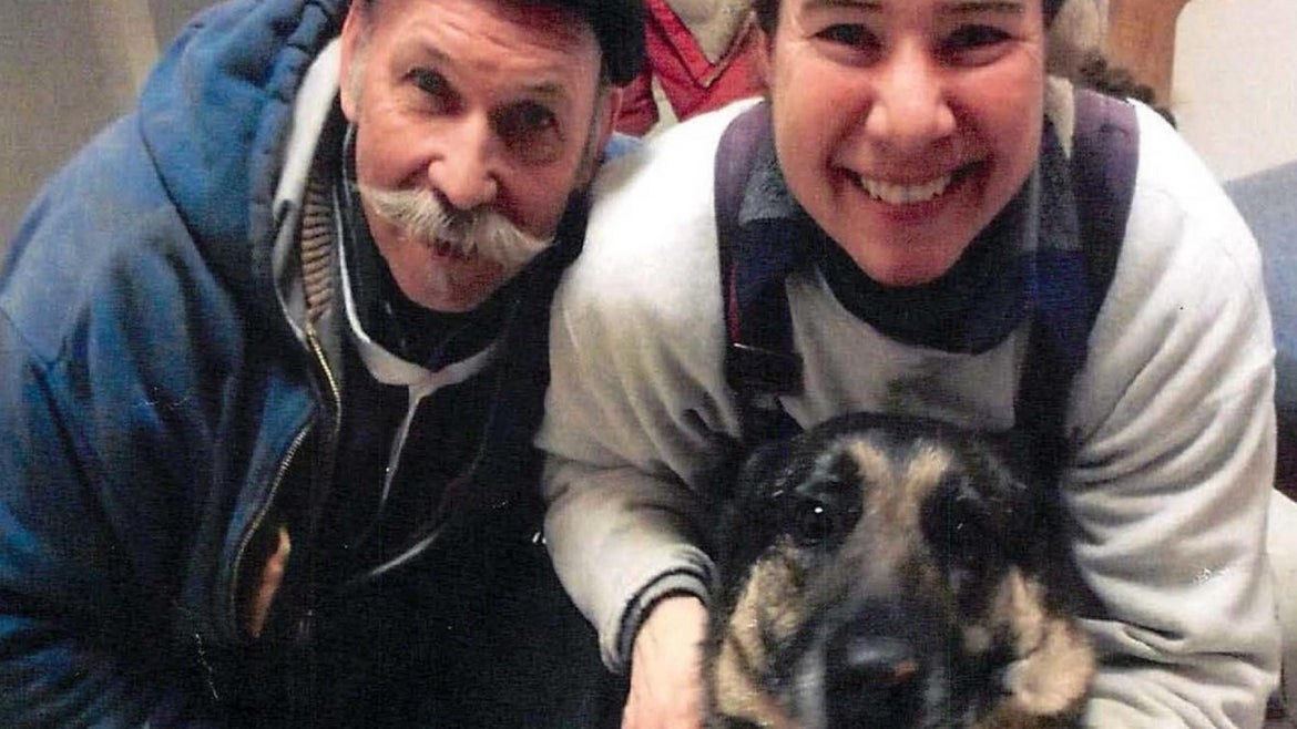Ray and Dani Green with the family dog, Jazzy.