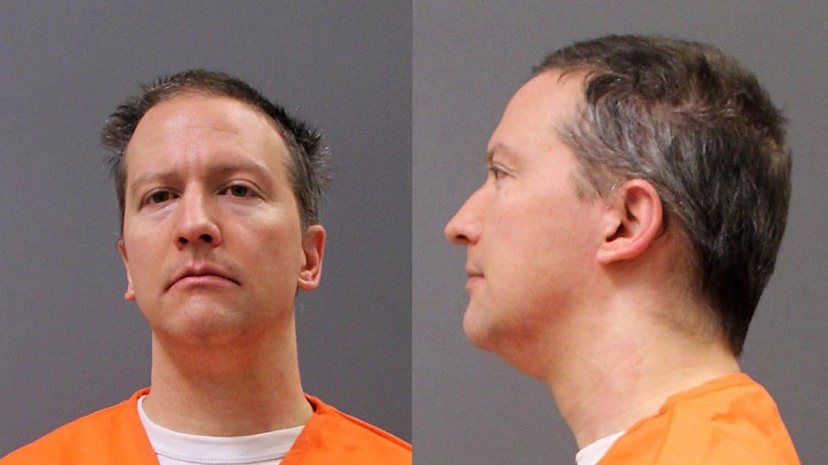 In this photo provided by the Minnesota Department of Corrections, former Minneapolis police officer Derek Chauvin poses for a booking photo after his conviction April 21, 2021 in Minneapolis, Minnesota. Chauvin was found guilty on all three charges in the murder of George Floyd.