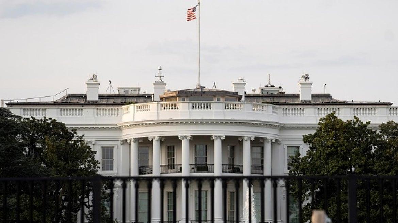 Photo taken on April 8, 2021 shows the White House in Washington, D.C.