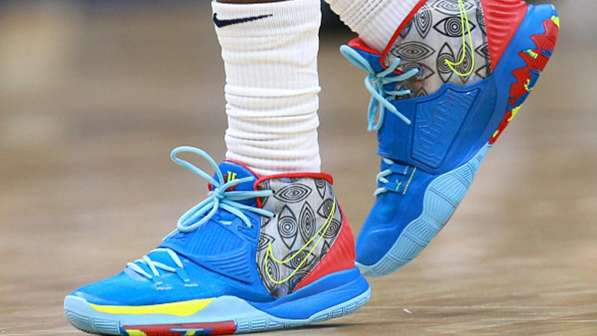 Jrue Holiday #11 of the New Orleans Pelicans wears a pair of Nike shoes during a NBA game against the Oklahoma City Thunder at Smoothie King Center on December 01, 2019 in New Orleans, Louisia