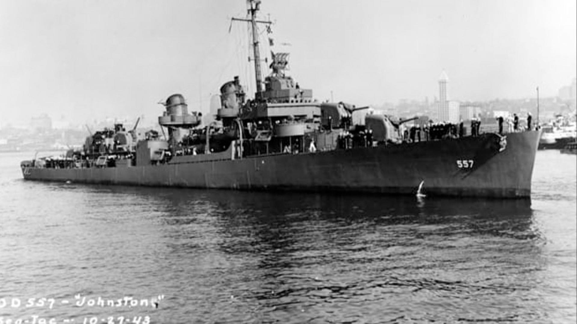 The USS Johnson, pictured here in 1943.