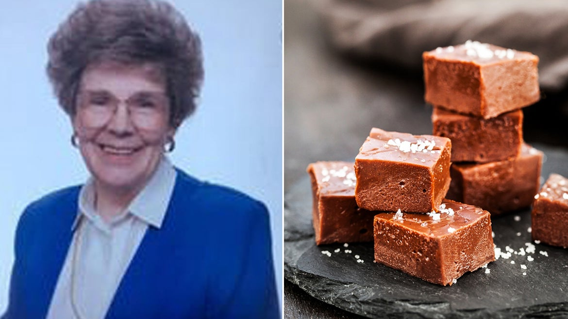 Martha Kathryn Kirkham Andrews engraved her famous fudge recipe on the headstone that was placed there years ago and the inscription has attracted attention from around the world.