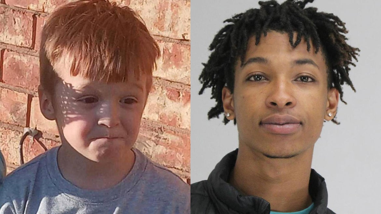(r-l) Victim, Cash Gernon, 4, and suspect Darriyn Brown, 18.