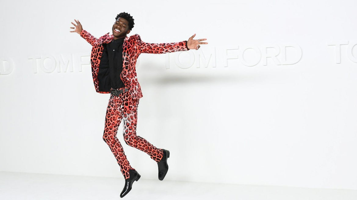 Lil Nas X attends Tom Ford AW20 Show at Milk Studios on February 07, 2020 in Hollywood, California