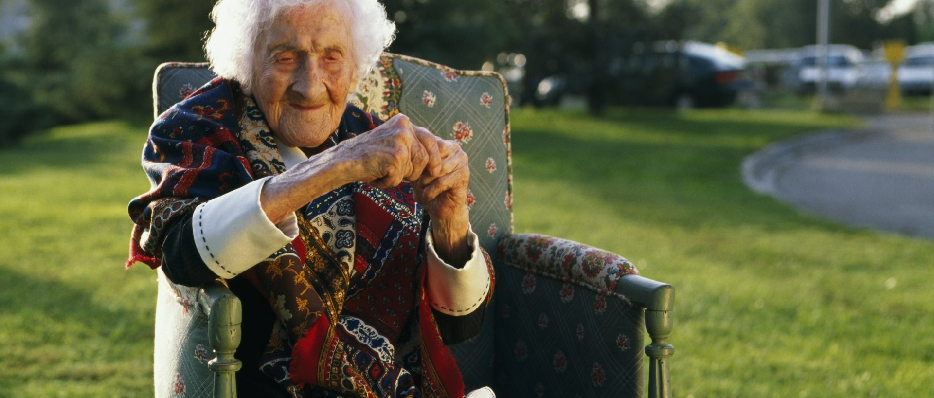 Jeanne Calment pictured in October 1995.