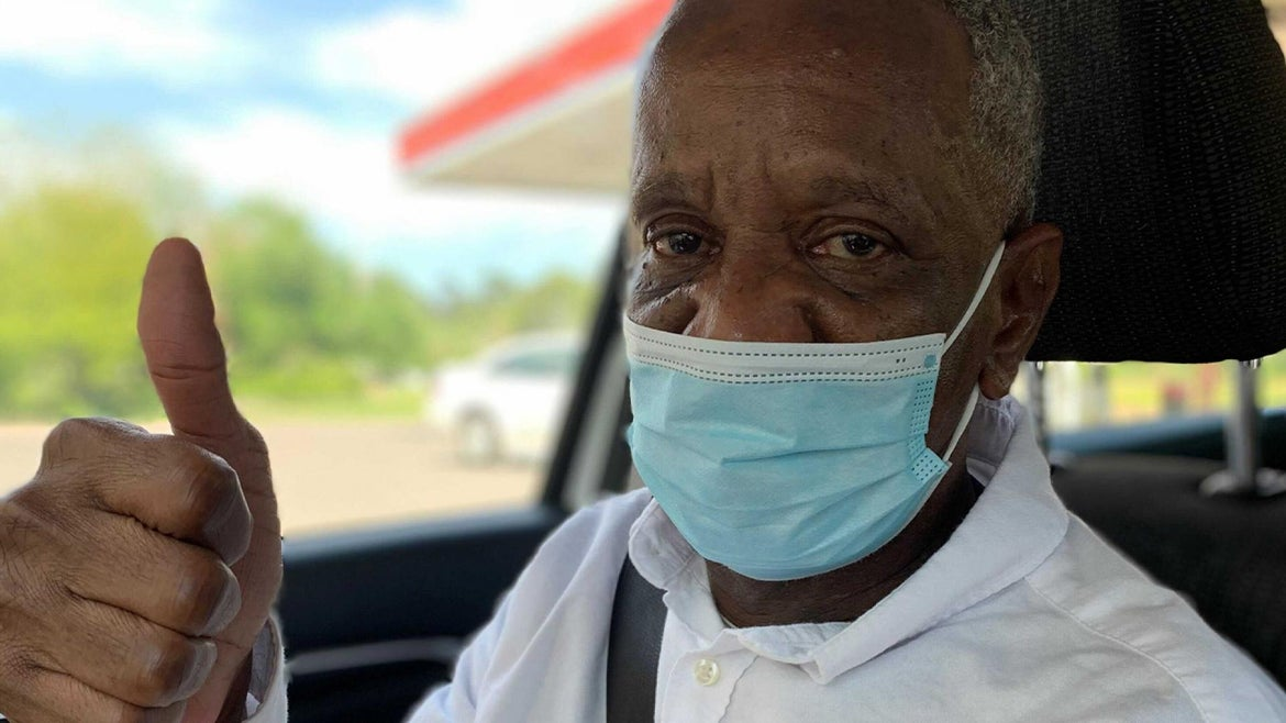 Guy Frank, 67, of Louisiana is a free man after serving more than two decades for petty theft.