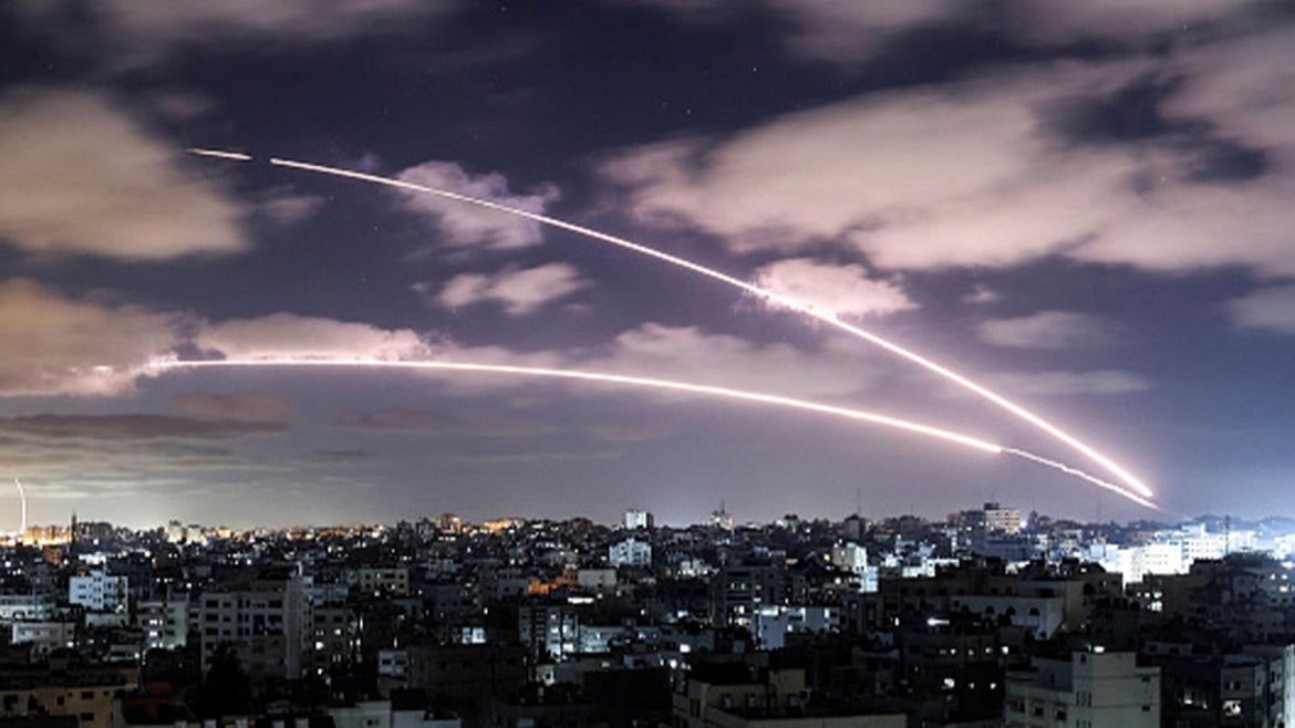 Israeli airstrikes towards Gaza during conflicts