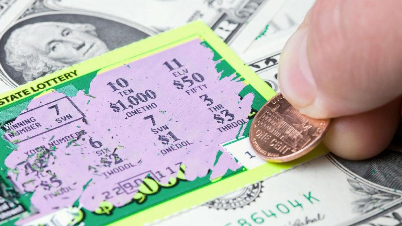 Winning Lottery Scratch Game Ticket