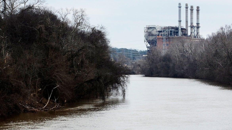 North Carolina's Dan River flows into the Duke Energy Dam.
