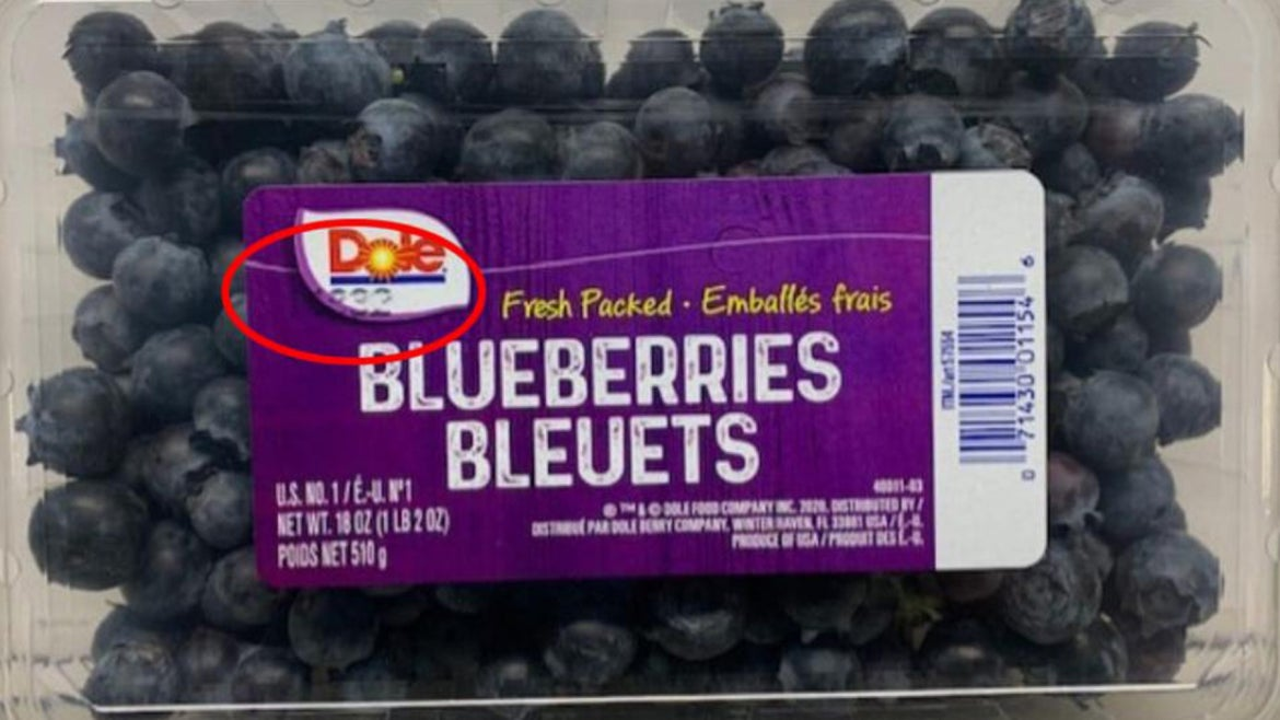 Dole blueberries on recall.