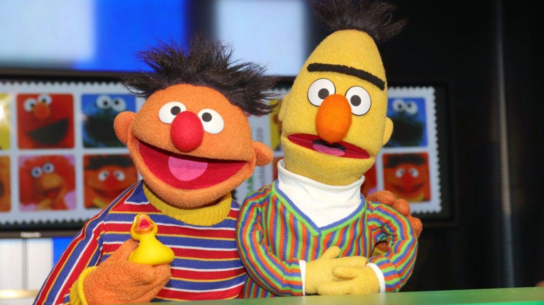Bert and Ernie of Sesame Street