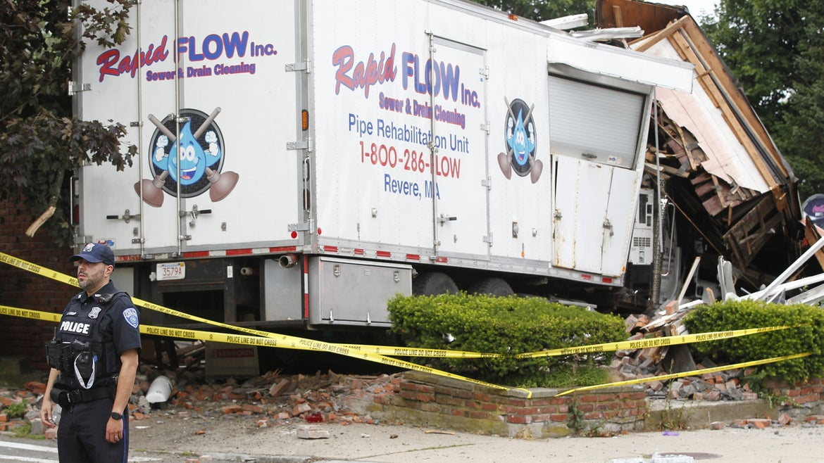 The gunman had stolen a box truck and driven it into a Winthorp home and vehicle before opening fire on 58-year-old Dave Green and 60-year-old Ramona Cooper.