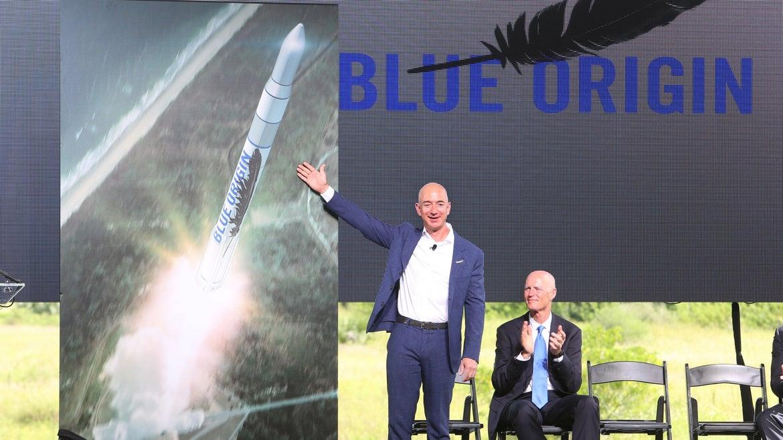 A bidder has won a seat on Jeff Bezos' rocket ship for $28M