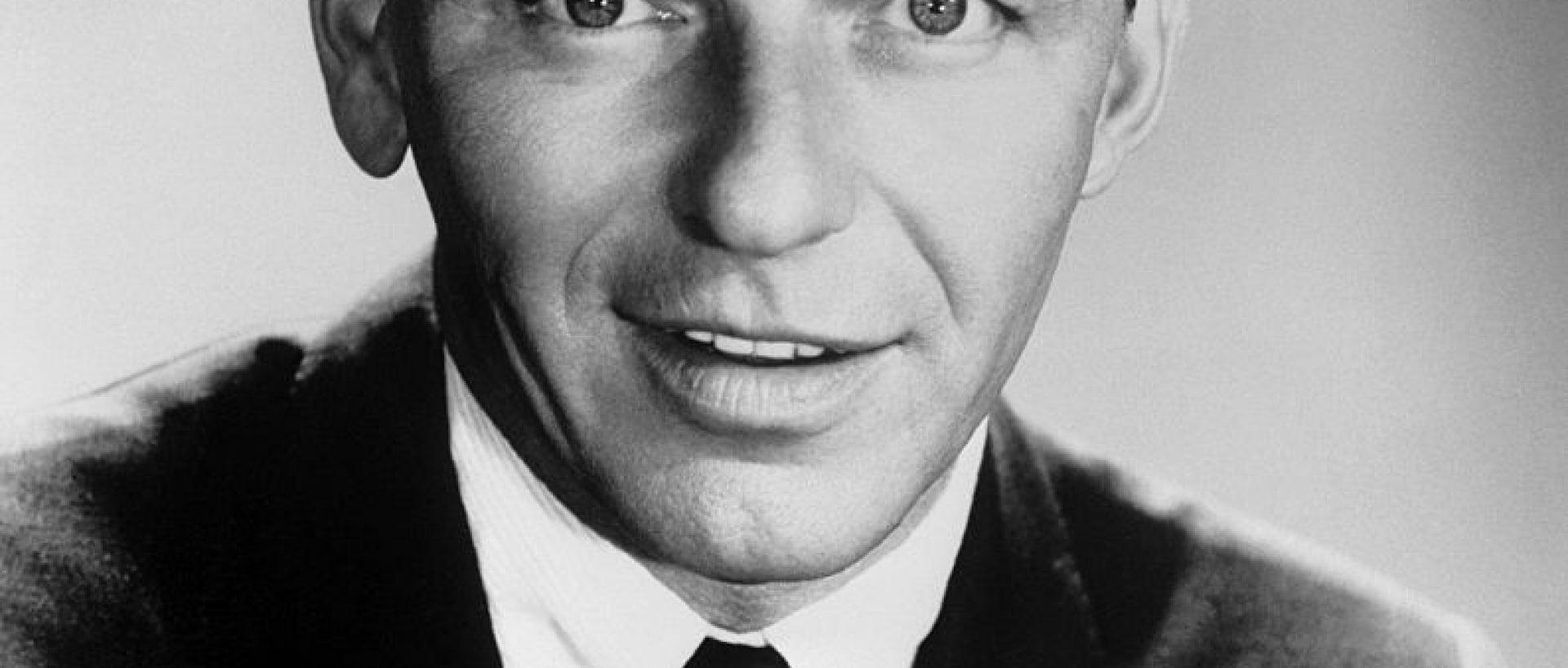 Black and white photo of Frank Sinatra