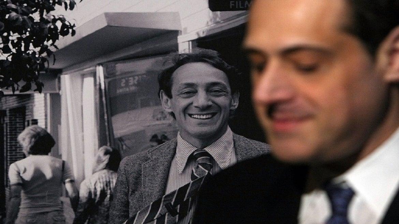 Harvey Milk, left, Stuart Milk