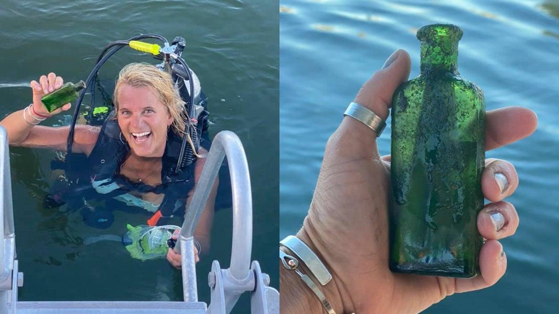 Jen Dowker found a message in a bottle near Cheboygan, Mi.