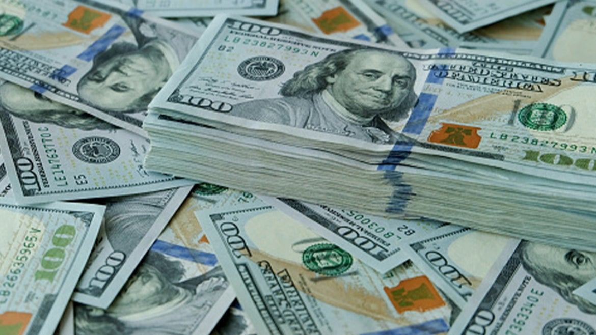 A stock image of money.