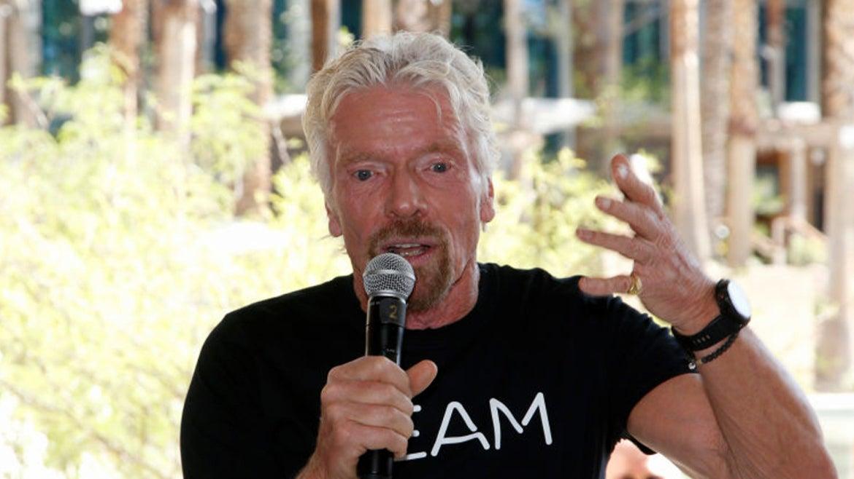 Branson speaking at event