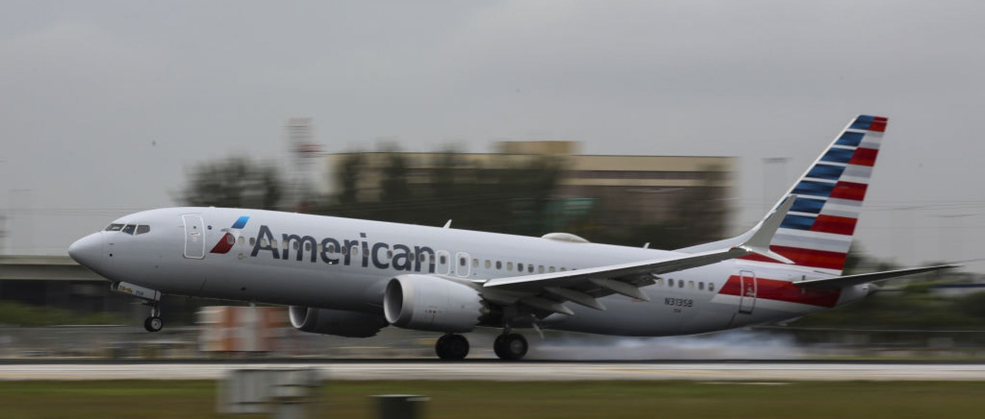 American Airline plan on the tarmac