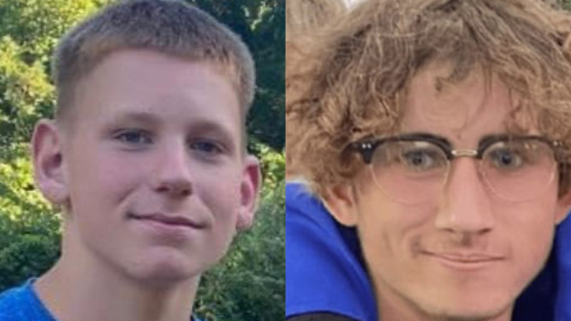Lucas Brewer, 15, (left) and Anthony Lagore, 17 (right) tragically died in Farmington River in  Avon, Conn.