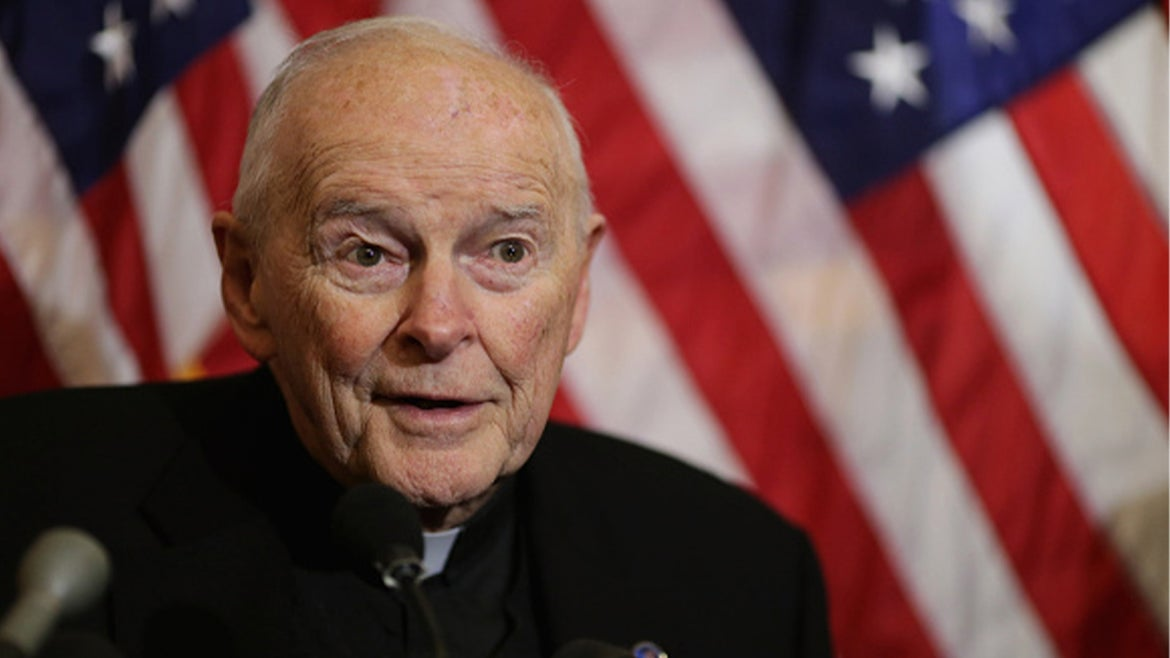 Former Cardinal Theodore McCarrick criminally charged in alleged sexual assault, 2015 photo.