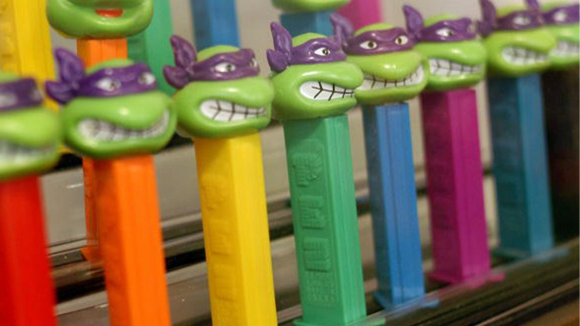 Ninja Turtle Pez photo is from the Easton Museum of PEZ Dispensers located in Easton, Pennsylvania.