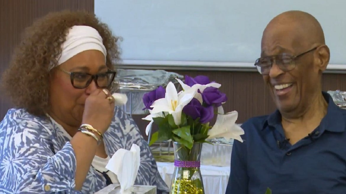 A 62-year-old woman finally met her father over the July 4th holiday.