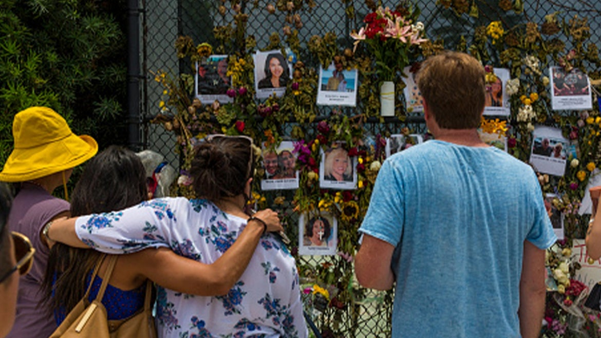Mourners stop by to say their prayers for those still missing in Surfside building collapse.