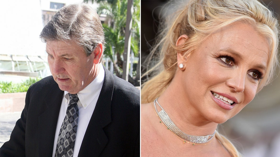 Jamie Spears, left, has agreed to step down from his conservator role for his daughter Britney Spears, right.
