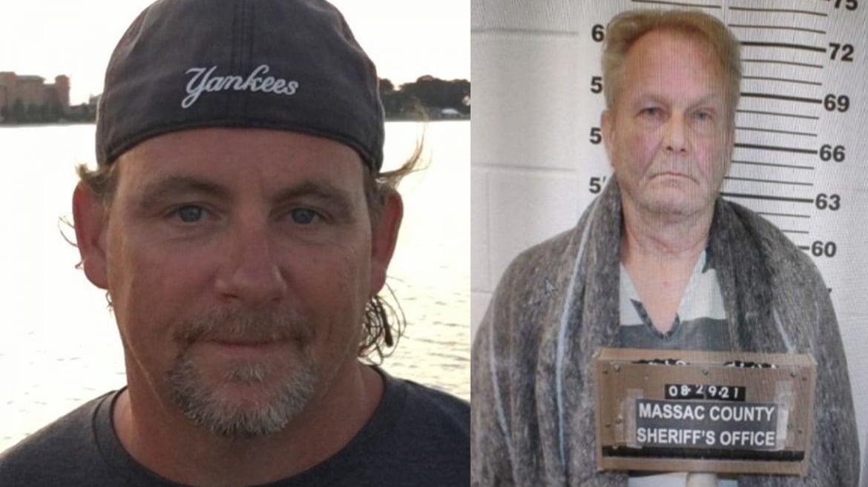 (l-r), Joseph E. Geyman, 51 was killed by half-brother, Larry Cavitt, 68, of Illinois