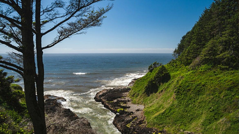 A photo of the Devil's Churn along Oregon Coast