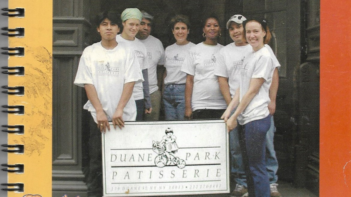Madeline Lanciani and her staff at Duane Park Patisseries.
